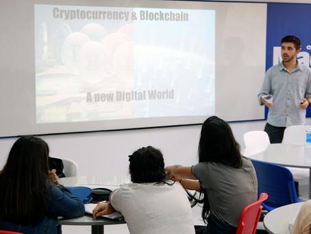 Palestra com Felipe Tricate sobre Bitcoin e Blockchain