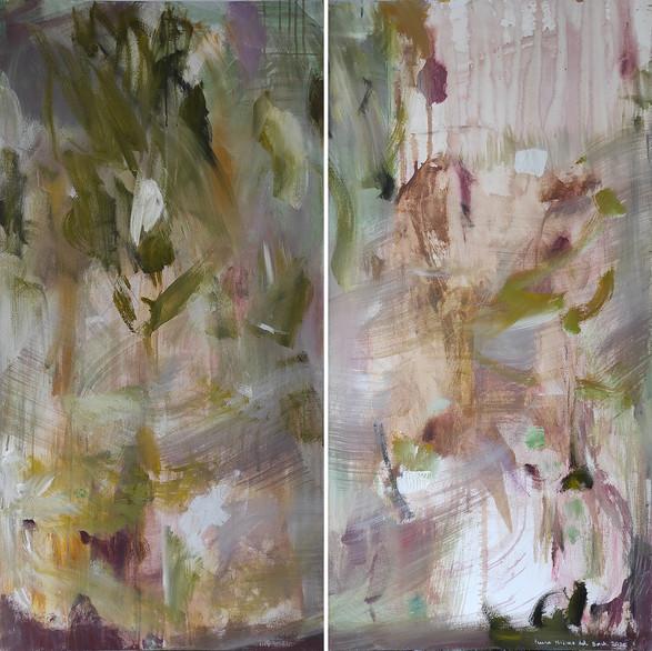 2020 Acrílico sobre lienzo  120 x 120 cm (Aprox.) Díptico