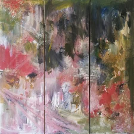 2019 Acrílico sobre lienzo 150 x150 cm. Tríptico (Biombo)