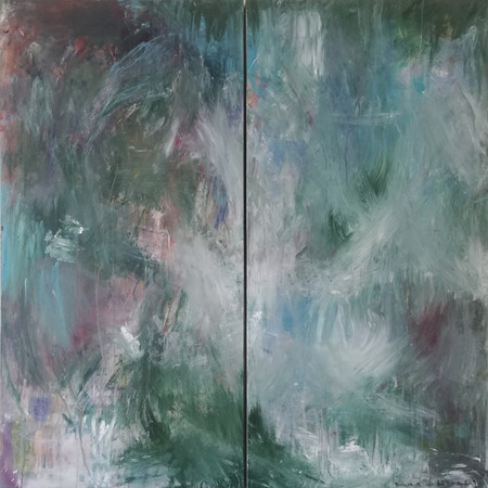 2019 Acrílico sobre lienzo 120 x 120 cm (Aprox.) Díptico