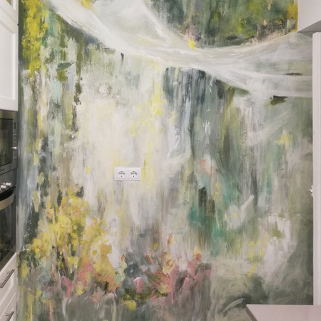 Intervención en pared de cocina