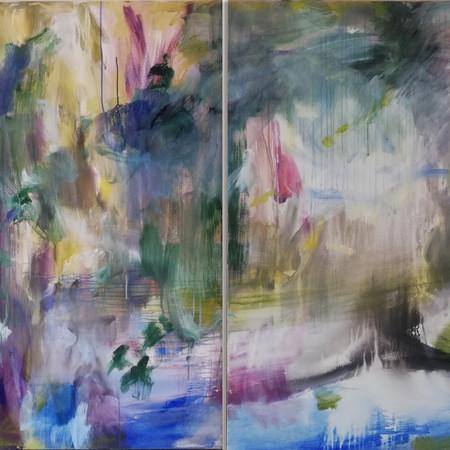 2019 Acrílico sobre lienzo 198 x 130 cm (Aprox.) Díptico