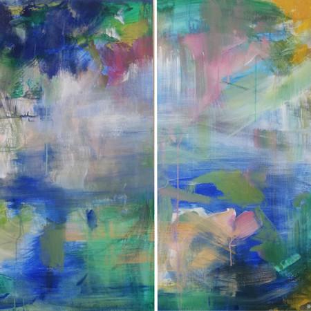 2020 Acrílico sobre lienzo  200 x 100 cm (Aprox.) Díptico