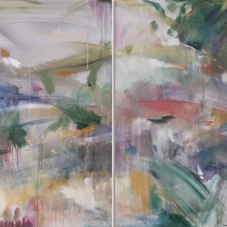 2019 Acrílico sobre lienzo 160 x 120 cm (Aprox.) Díptico