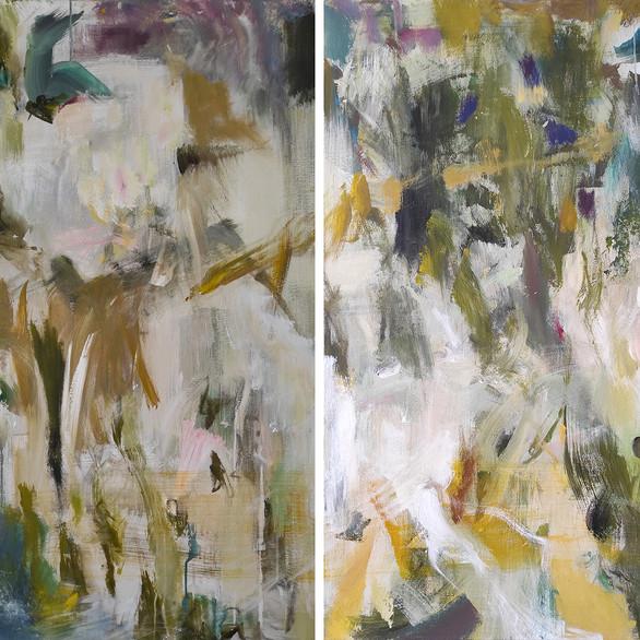 2020 Acrílico sobre lienzo  160 x 120 cm (Aprox.) Díptico
