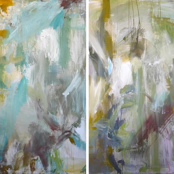 2020 Acrílico sobre lienzo  180 x 140 cm (Aprox.) Díptico