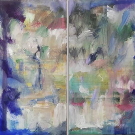 2019 Acrílico sobre lienzo 142 x 100 cm (Aprox.) Díptico