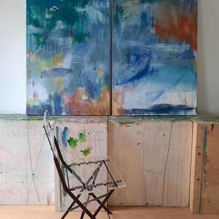 2020 Acrílico sobre lienzo  140 x 100 cm (Aprox.) Díptico