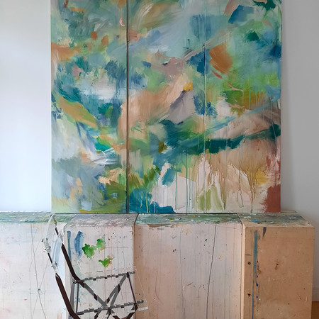 2020 Acrílico sobre lienzo  150 x 150 cm (biombo) Díptico