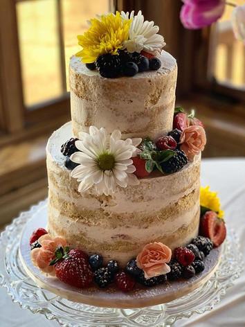 Naked Fresh Fruit Baby Shower Cake