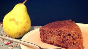 Gâteau léger poire châtaignes : vegan et facile