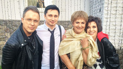 С Татьяной Судец. На бенефисе поэта Святослава Моисеенко