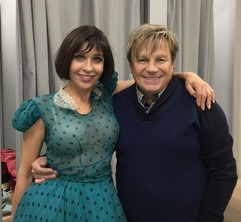 С Виктором Салтыковым на съемках Субботн