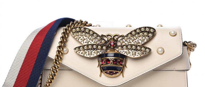 Gucci -Pearl Studded Bee Bag