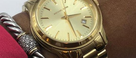 "Michael Kors - Gold ""Jet Set"" Watch"