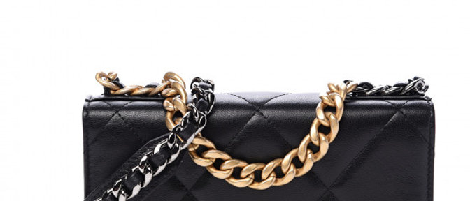 Chanel - Quilted 19 Wallet on a Chain