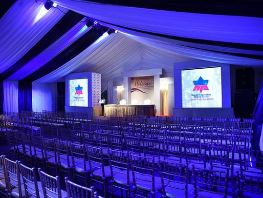 אוהל ענק במרכז בני ברק