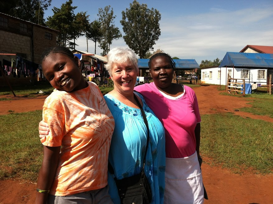 Alice, Me & Carol at Challenge Farm Kitale Kenya