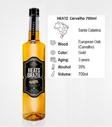 Heatz-Cachaca Carvalho 700ml