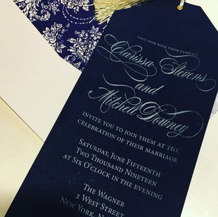 Elegant Velvet Invitation
