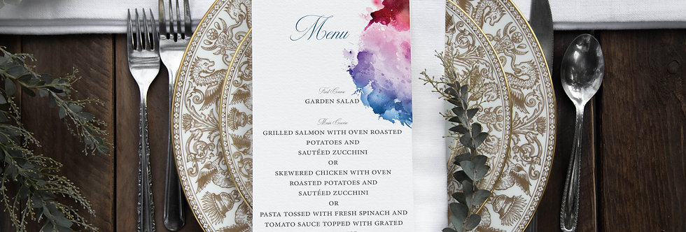 Martha Dinner Menu