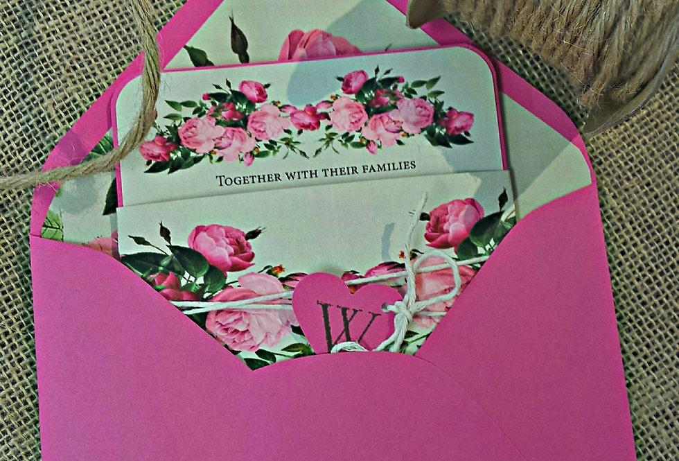 Garden wedding invitation, Shabby chic wedding invitation,Amira design, Custom wedding invitation,
