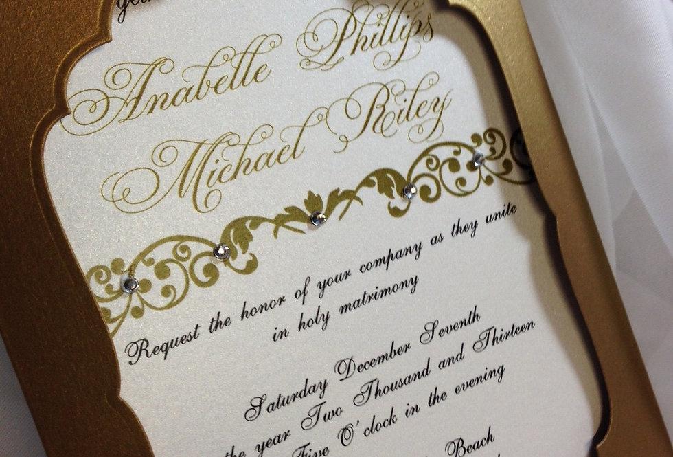 Couture Wedding invitation, gorgeous wedding invitation, Moroccan wedding invitation, custom wedding invitation