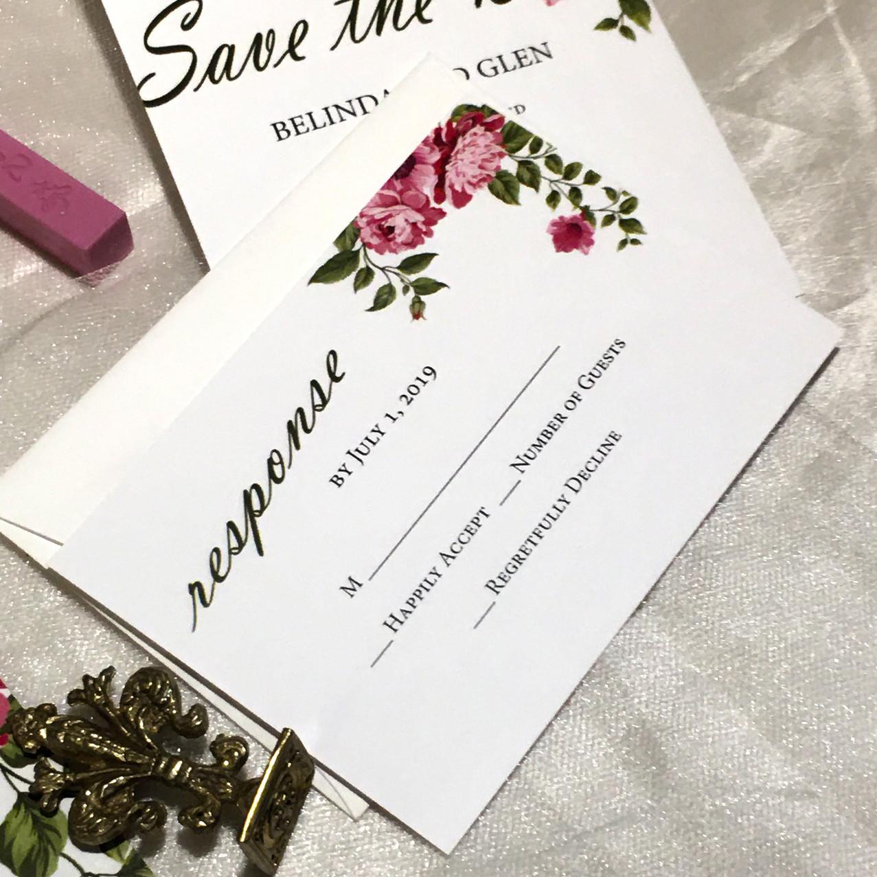 Boho Wedding Invitation - Amira Design -