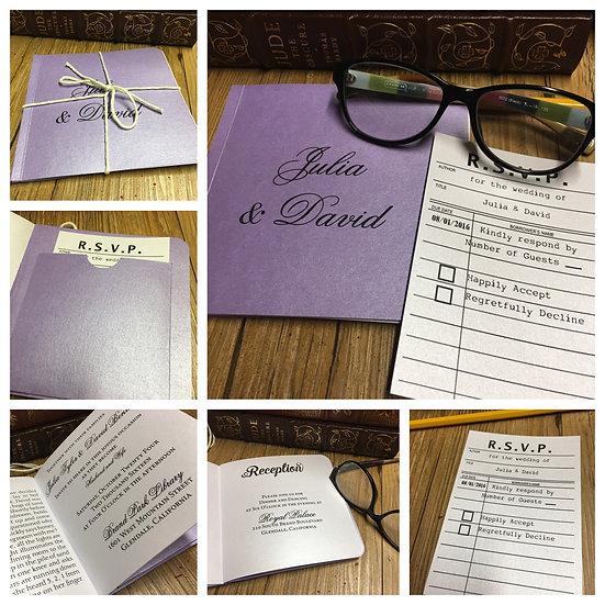 Library Book Invitation Trending Wedding Designer Los Angeles