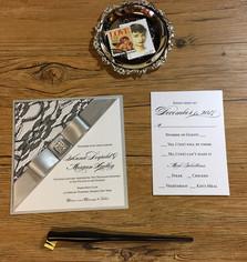 anna wedding invitation, couture wedding