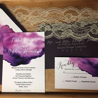 Laurel - Watercolor Wedding Invitation