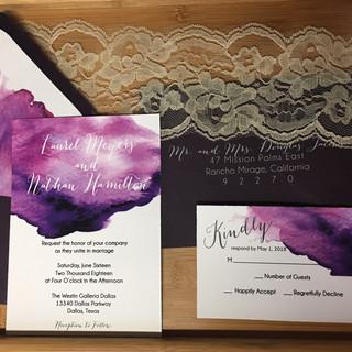 Laurel - Watercolor Wedding Invitation
