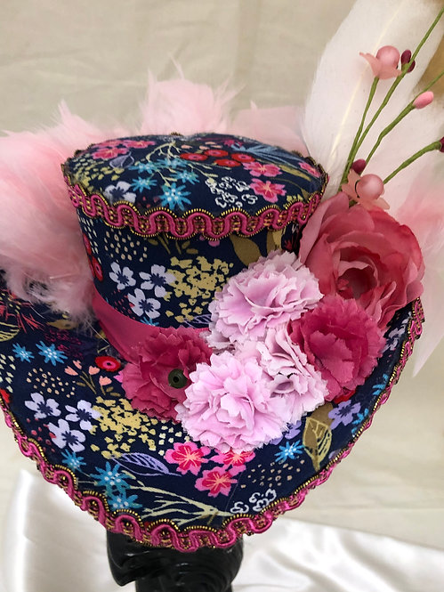 Pink and Navy Pirate hat