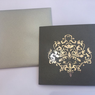 Custom Laser Cut Tri-Fold Invitation