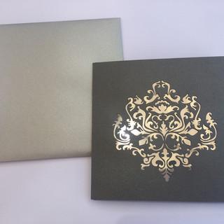 Custom Laser Cut Tri-Fold Invitation