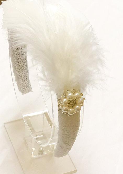 Isabelle Feather Headband