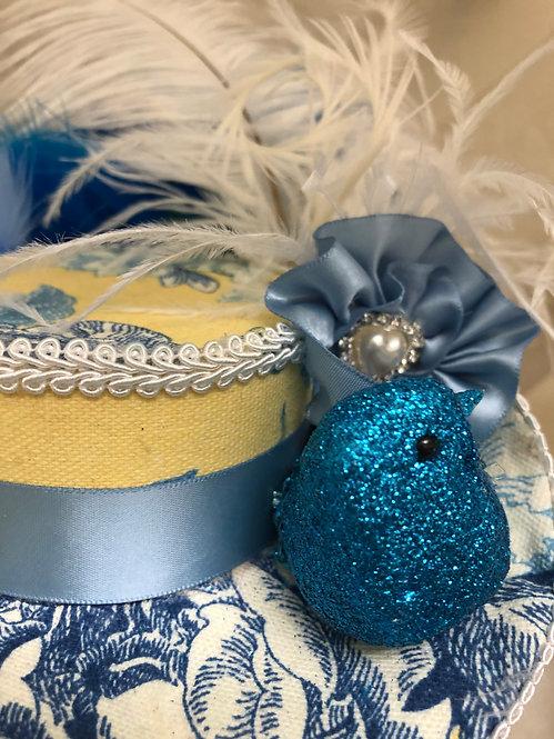 Blue Bird Mini Bicorn Hat