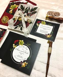 mysterious floral invitation suite (21).