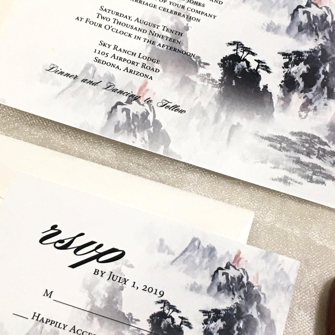 Comtemporary Wedding Invitation - Amira