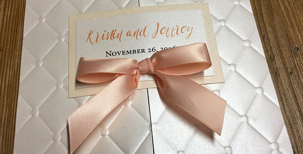 tufted wedding invitation, Custom wedding invitation, Couture wedding invitation, Chic wedding invitation,