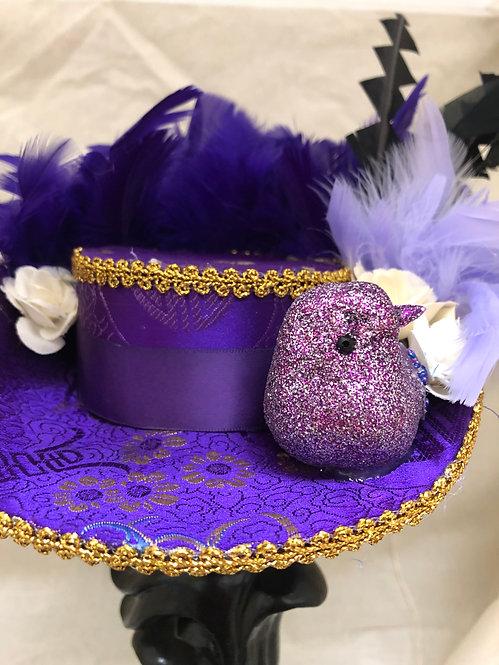 Purple and Lavender Mini Bicorn Hat
