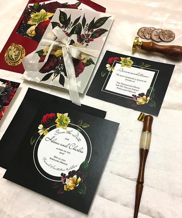 mysterious floral invitation suite (20).