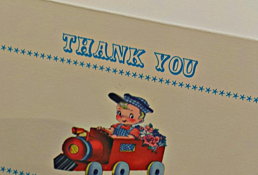 Retro Train Thank You