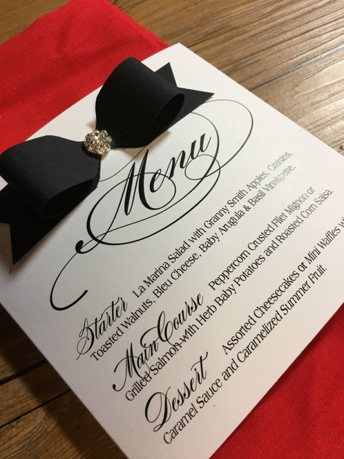 Tuxedo Menu | Amira Design | Day of Stationery - Menu | Couture ...