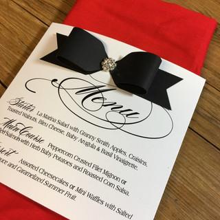 bow tie menu