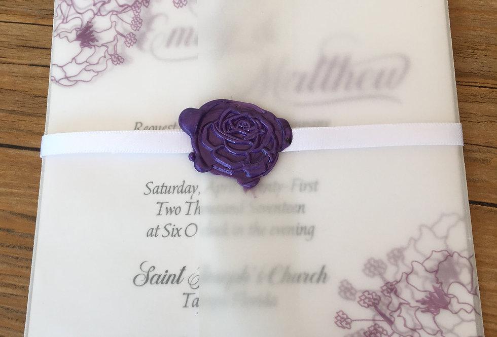 Peony Wedding Invitation, Tending wedding invitation, Top wedding invitation trends, Tropical wedding invitation,