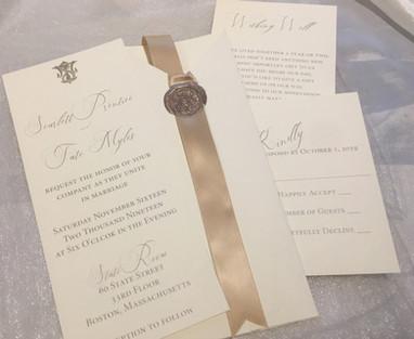 scarlett wedding invitation  _ couture w