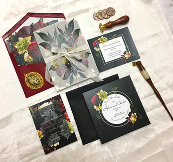 mysterious floral invitation suite (14).