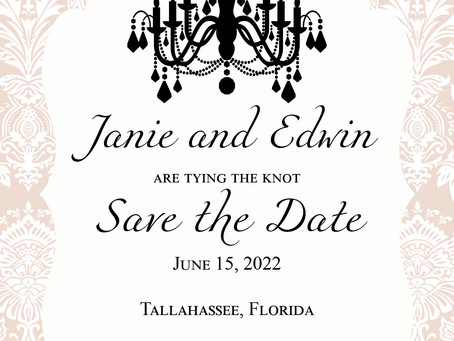 Chandelier Save The Date