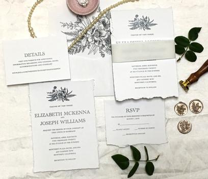 delicate florals wedding invitations 1 (